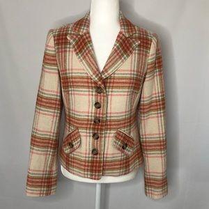Sundance plaid cropped jacket blazer, size 4